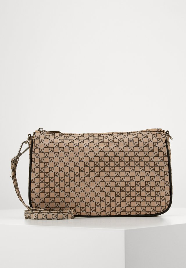 TRAVEL SHOULDER BAG - Umhängetasche - beige/black