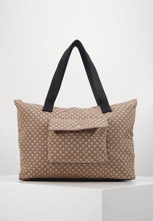 TRAVEL COMMUTER BAG - Tote bag - beige/black