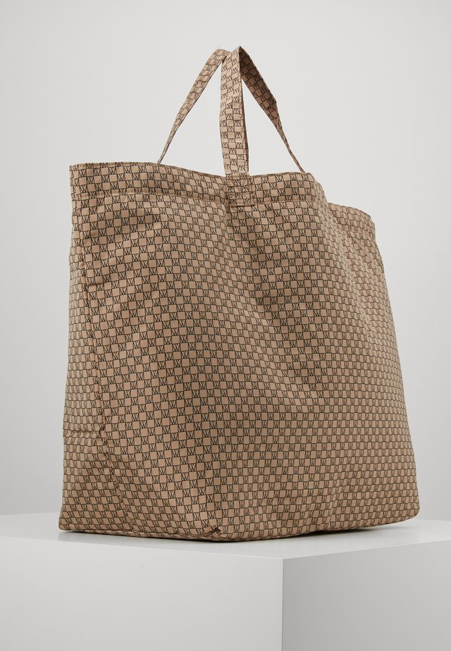 TRAVEL TOTE BAG - Shopping Bag - beige/black