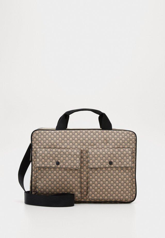 TRAVEL LAPTOP BAG - Laptoptas - beige/black
