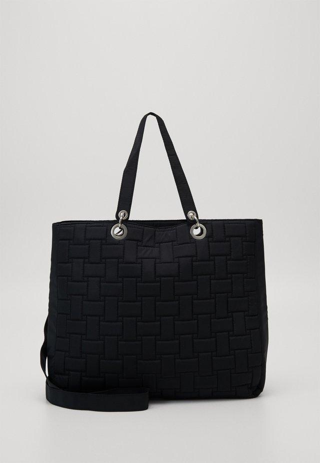 TRAVEL QUILT TOTE BAG - Shopper - black