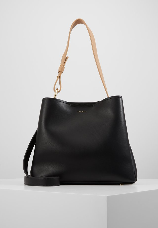 JANE - Handbag - black/ latte
