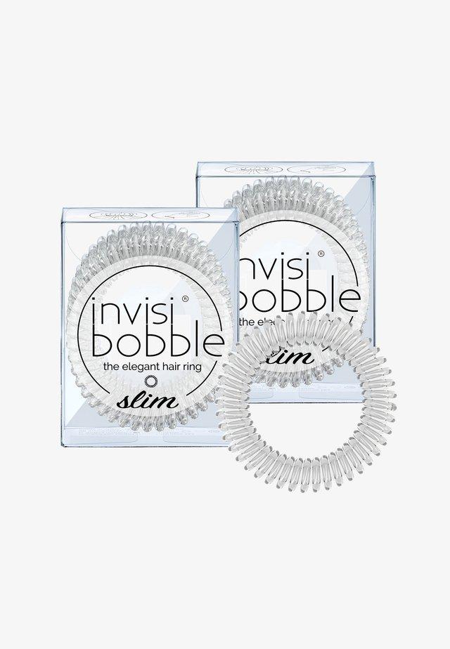 SLIM HAARGUMMI 2 PACK - Hårstyling-accessories - crystal clear