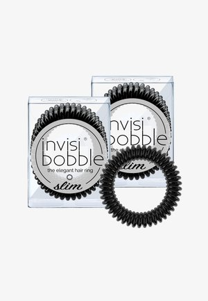 SLIM HAARGUMMI 2 PACK - Hårstyling-accessories - true black