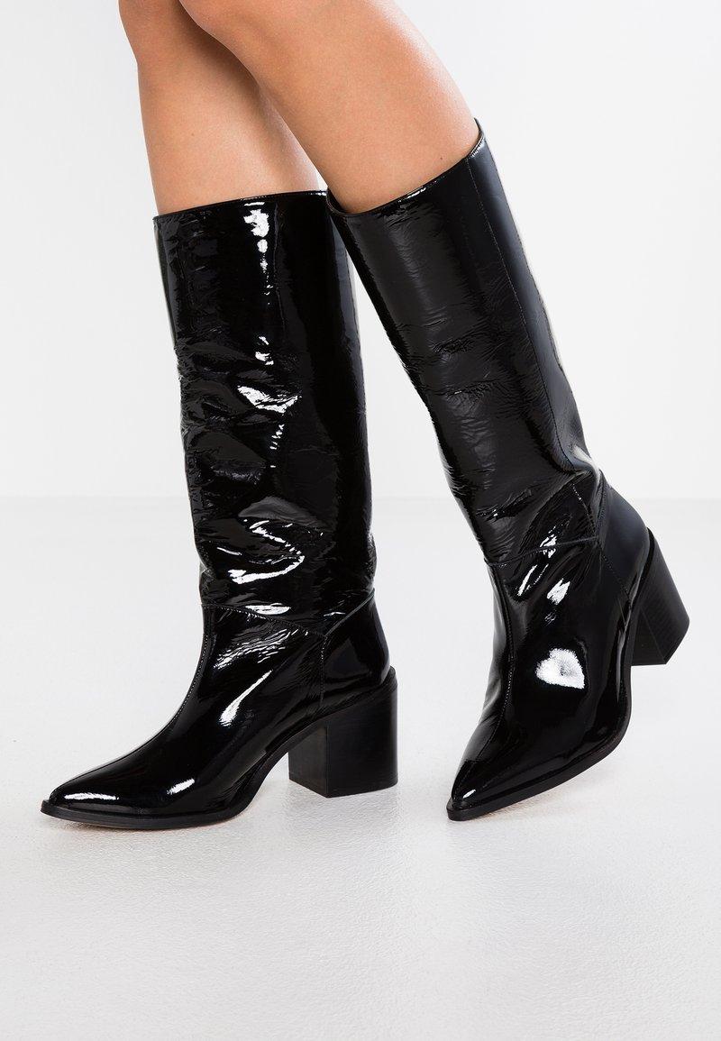 Intentionally Blank - INFERNO - Cowboy/Biker boots - black