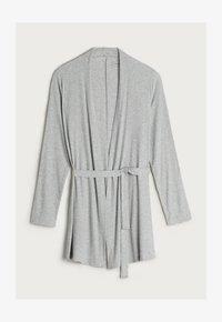 Intimissimi - GERIPPTER MORGENMANTEL AUS MODALMIX - Dressing gown - silver grey mel - 3