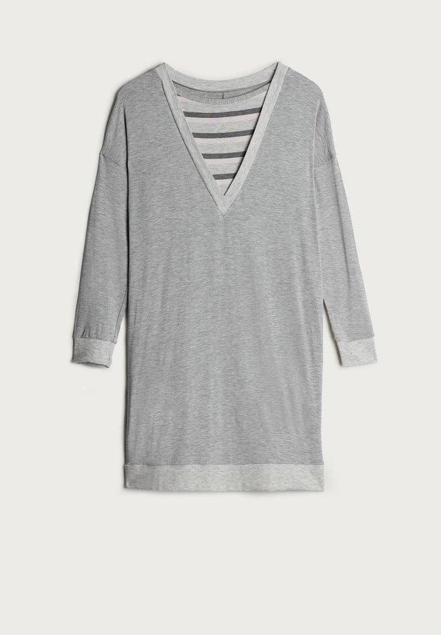 Nachthemd - grau - 366i - grigio mel/righe