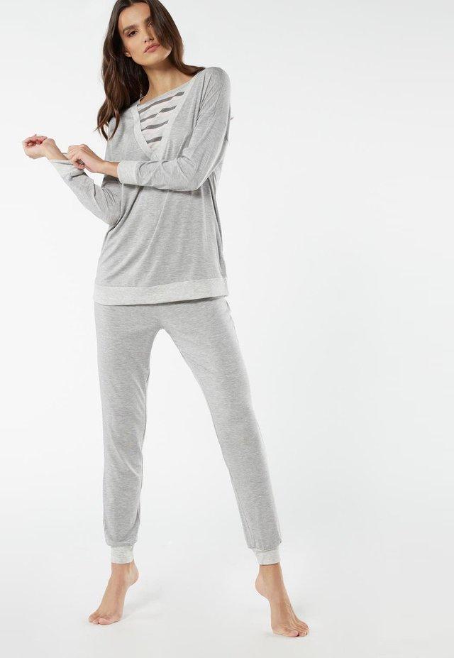 Pyjama - grau - 366i - grigio mel/righe