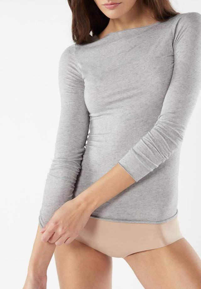 Undershirt - grau - 378i - grigio mel.