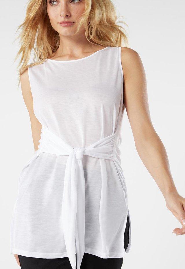 MIT BINDEBAND - Nachtwäsche Shirt - white