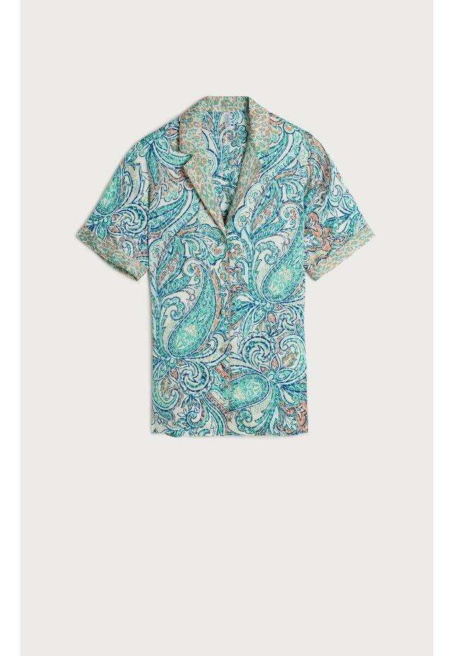 KURZARMSHIRT ROMANTIC CASHMERE - Button-down blouse - aufdruck - 401i - st.romantic cashmere