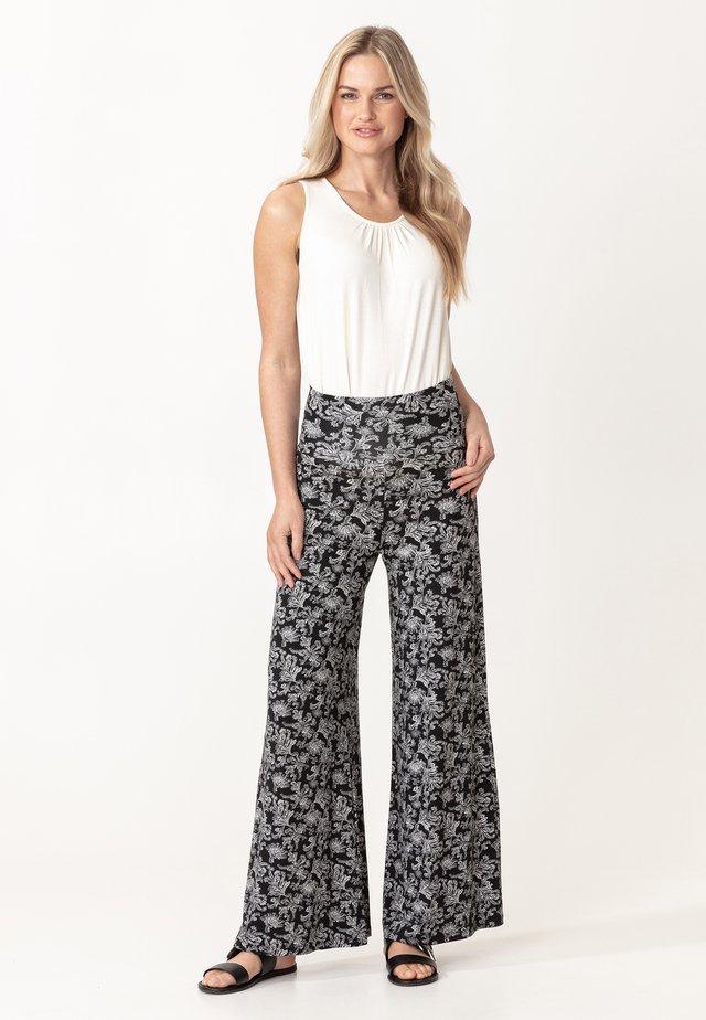 NINA - Pantalon classique - blackwhite