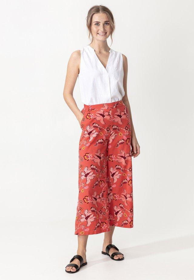 Spodnie materiałowe - coral