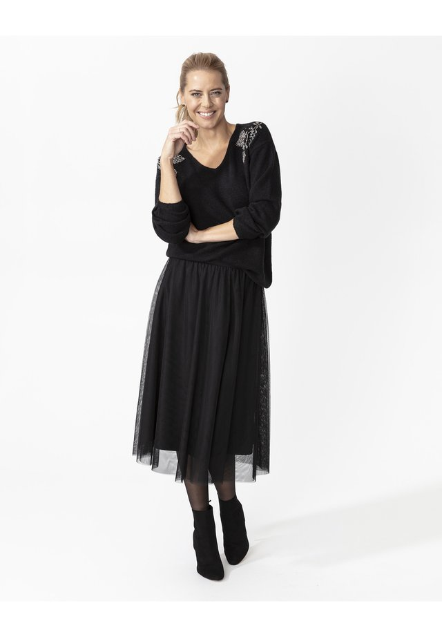 CARMINA - Spódnica trapezowa - black