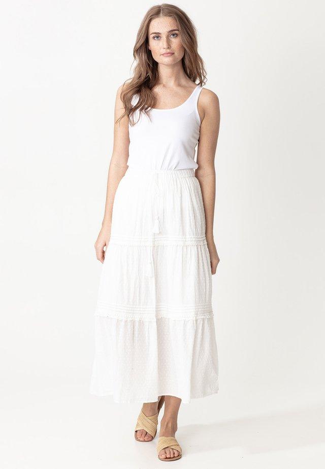 SIRI - Spódnica trapezowa - white