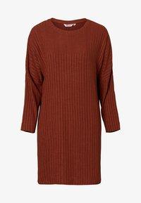 Indiska - FREESIA - Stickad klänning - rust - 2