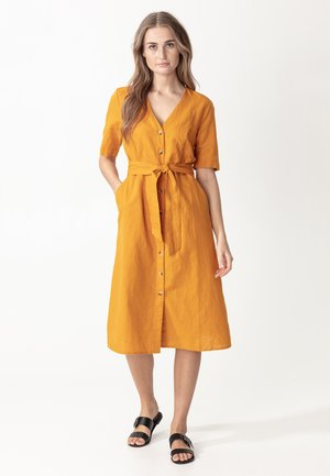 Abito a camicia - mustard yellow