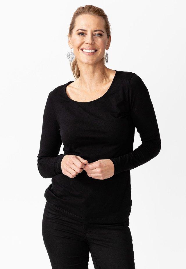 MATHILDA - Bluzka z długim rękawem - black