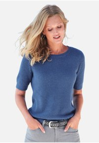 Include - T-shirt basic - jeansblau-melange - 0