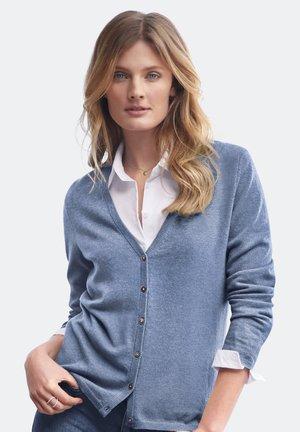 Cardigan - jeansblau-melange