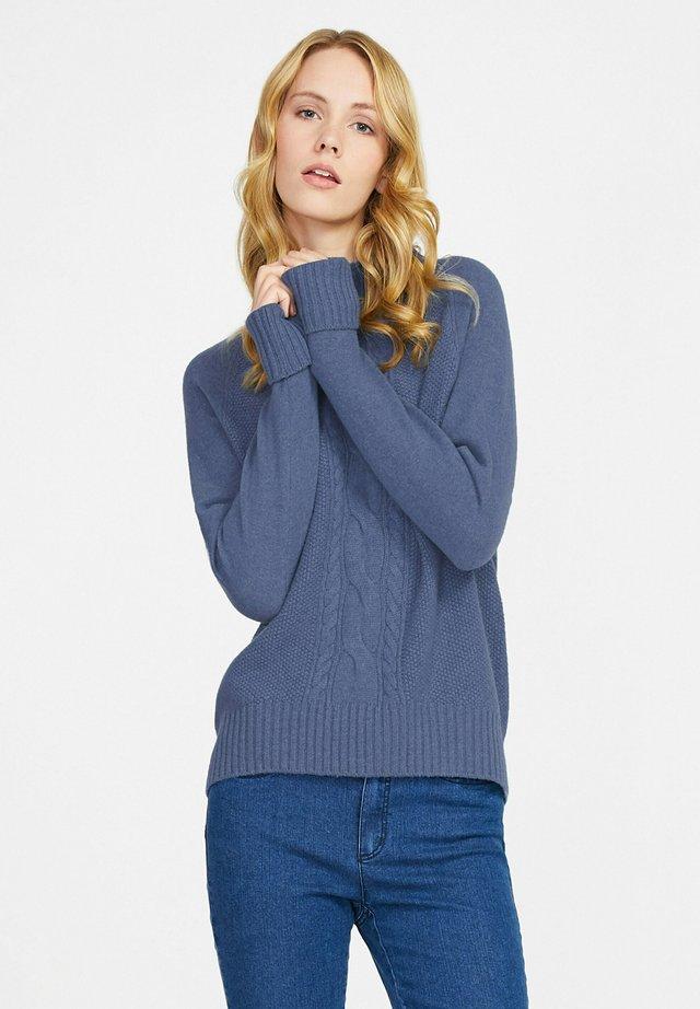 Pullover - jeansblau-melange