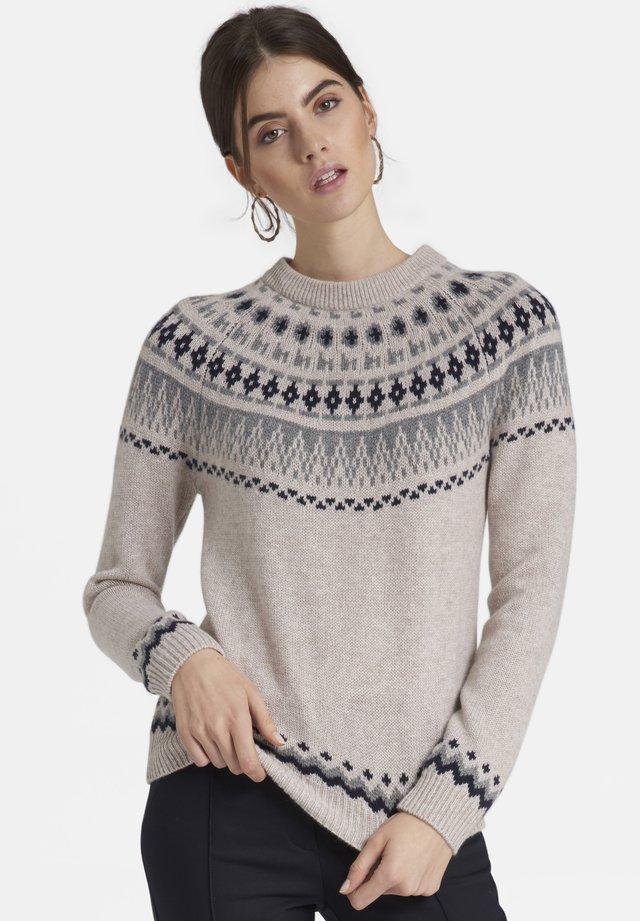 Pullover - sand/grau/