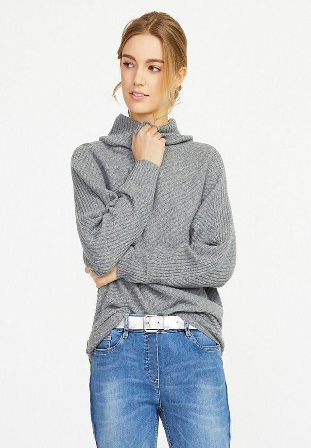 Pullover - grau-melan