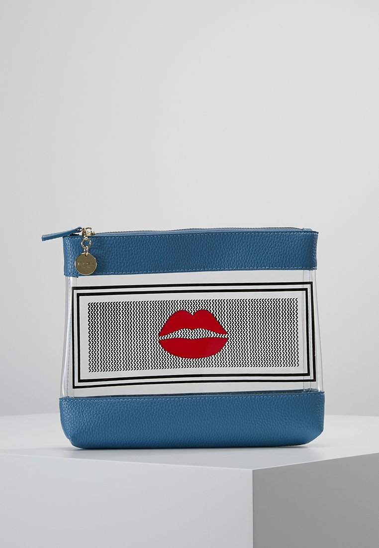 Iphoria - INFLIGHT BAG NIGHTS WITH LIPS - Toalettmappe - transparent/blue