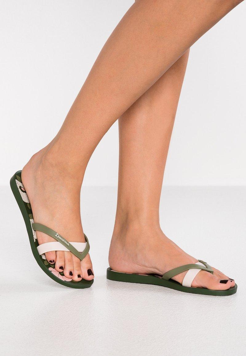 Ipanema - KIREI - Bade-Zehentrenner - green/beige