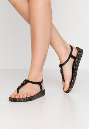 BOSSA SOFT - Teenslippers - black