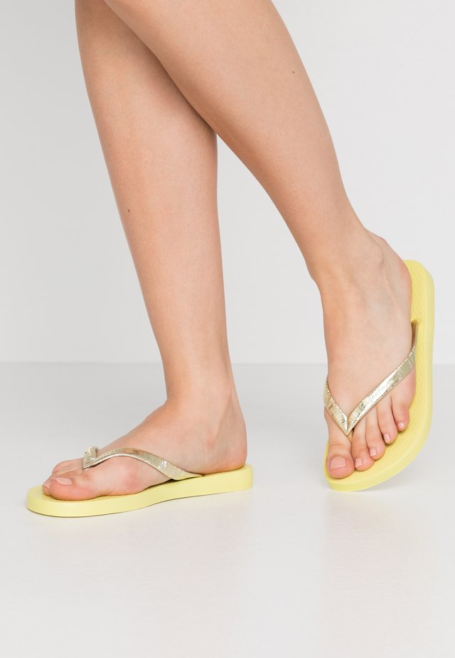 GLAM - Teenslippers - yellow/metallic gold