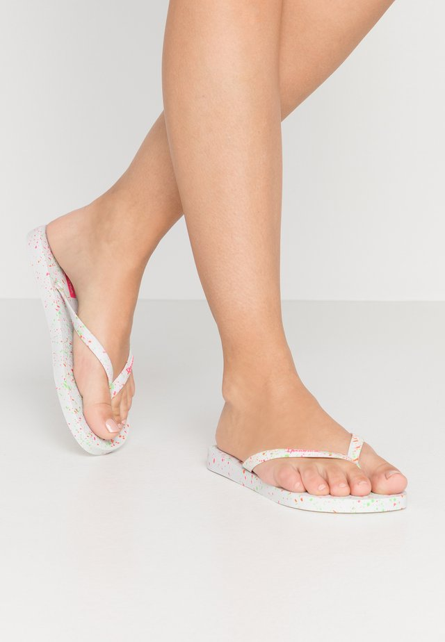 SPLASH - Teenslippers - white/pink