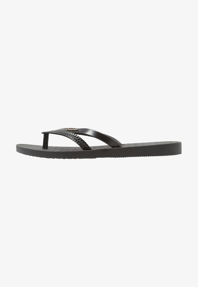 BOSSA - Teenslippers - black