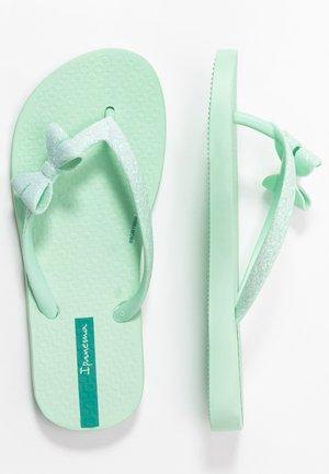 IPANEMA LOLITA IV KIDS - T-bar sandals - green/green glitter