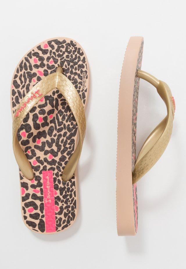 CLASSIC VIII KIDS - Pool shoes - beige/gold/brown