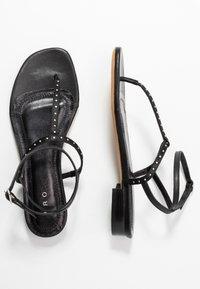 Iro - LILAS - Sandaler m/ tåsplit - black - 3