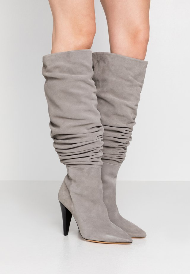 BAILEY - High heeled boots - pearl grey