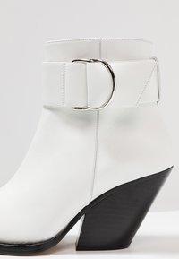 Iro - AREZ - Cowboy/biker ankle boot - white - 2