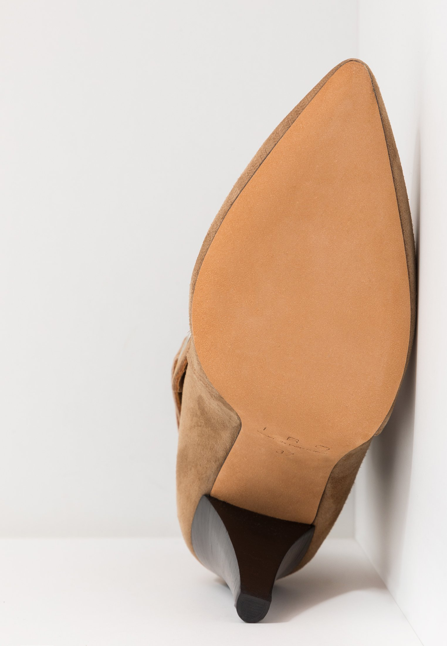 Iro GRANDOS - Bottines à talons hauts camel
