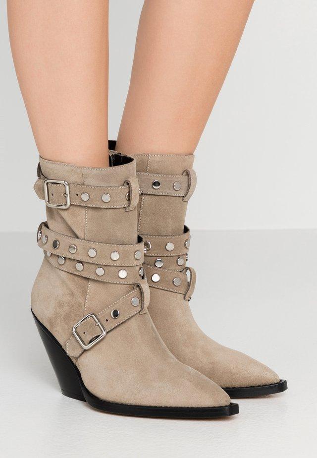 BONOBAL - High heeled ankle boots - khaki