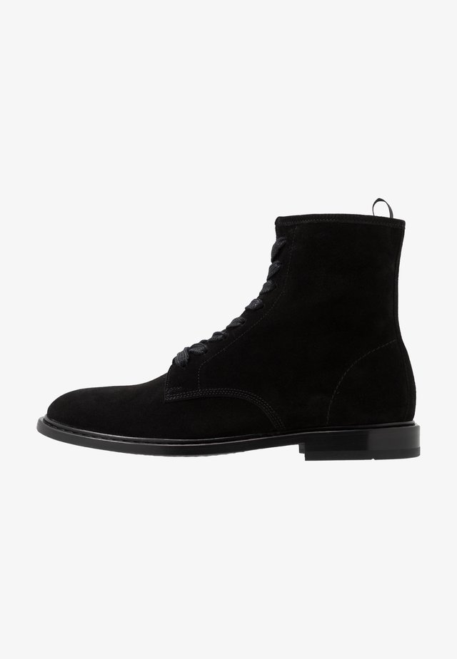 MOROY - Lace-up ankle boots - black