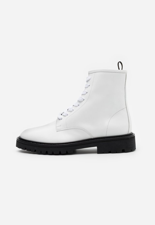 WAYNE - Lace-up ankle boots - white