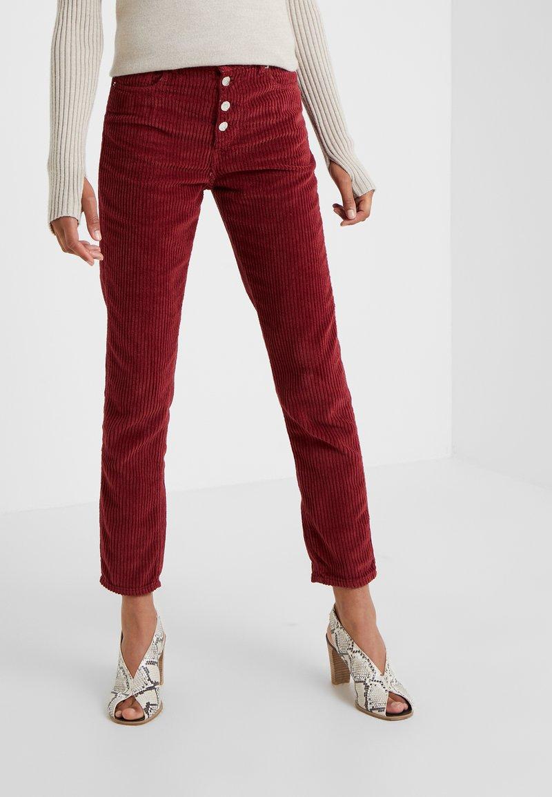Iro - GAEMY - Trousers - burgundy