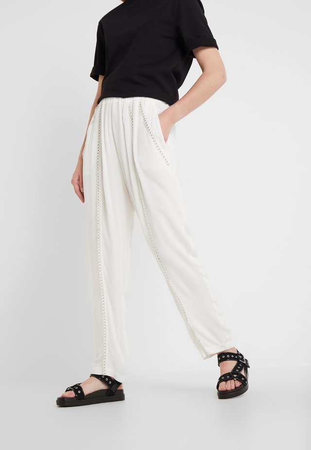 EGINI - Trousers - white