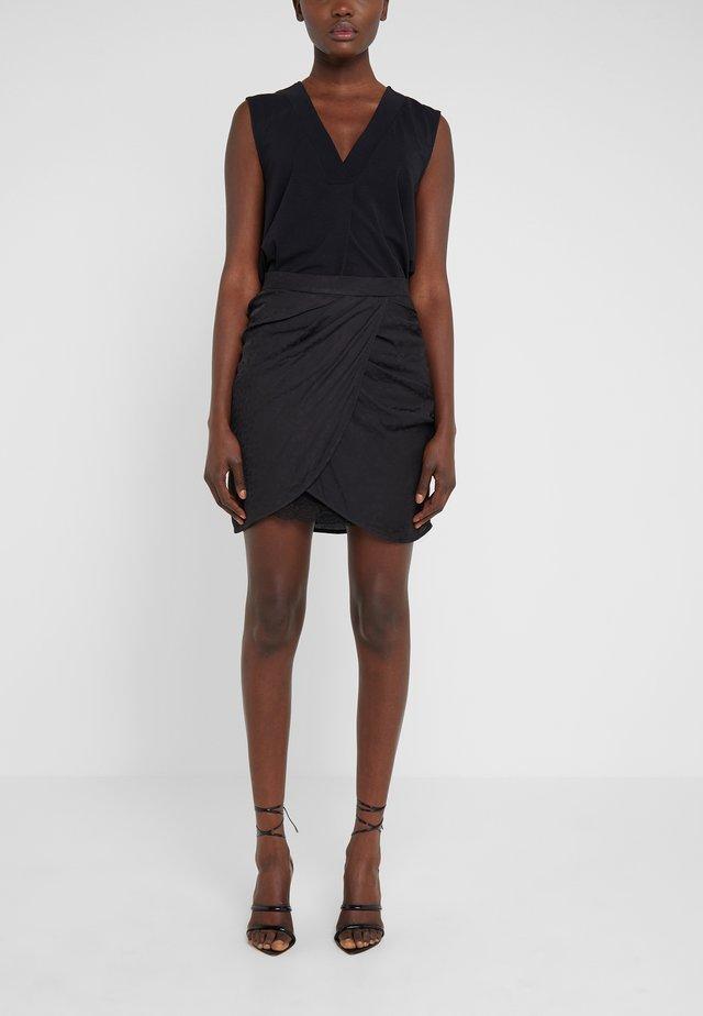 REIFER - Mini skirt - black