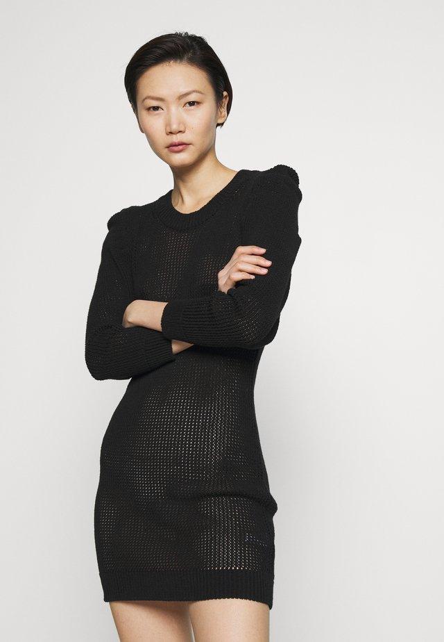 ZAUCA - Stickad klänning - black