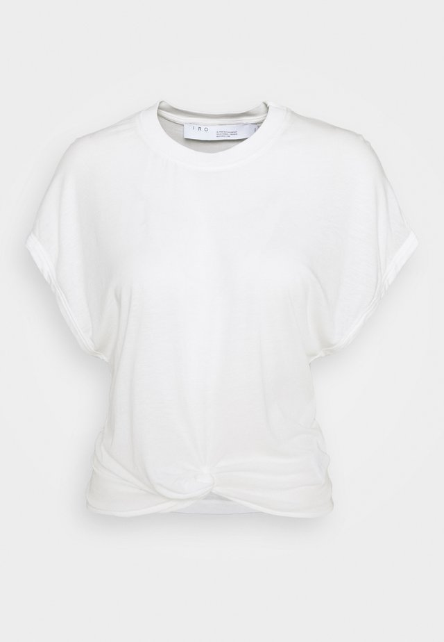 PEARLY - T-shirt med print - cream
