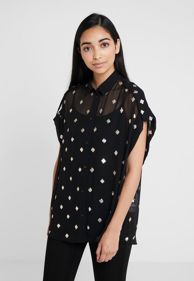 RAMALAN - Button-down blouse - black