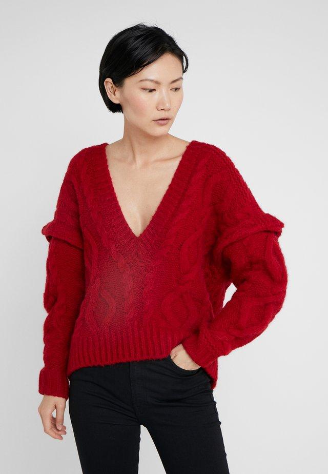 HOMNY - Stickad tröja - cardinal red