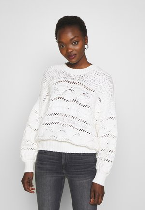SIMIUS - Strickpullover - off-white